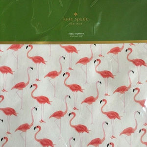 NWT Kate Spade Flamingo Table Runner